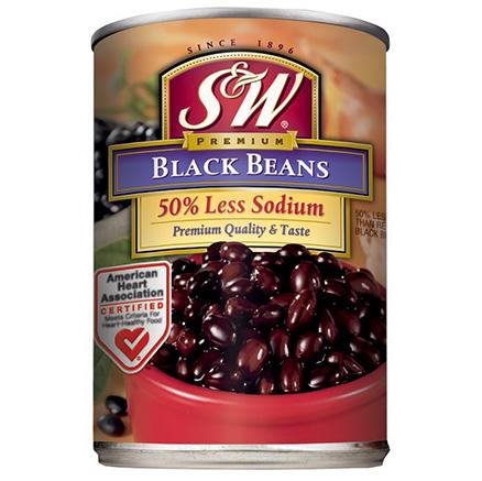 S&W 50% Lower Sodium Black Beans
