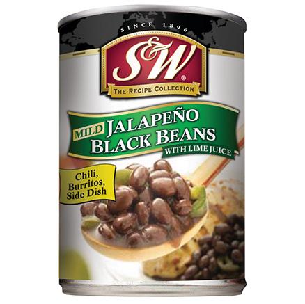 S&W Jalapeno Black Beans